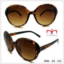 Plastic Laides Sunglasses with Double Color and Metal Decoration (WSP508282)