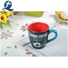 Taza de cerámica barata de encargo de la taza del mango del café del té de la moda