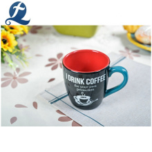 Tasse en céramique de tasse de poignée de thé de thé bon marché personnalisé de mode