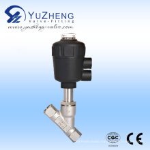 Stainless Steel Thread Pneumatic Angle Seat Valve