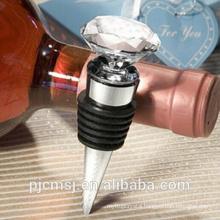 Wholesale cheaper transparent crystal wine bottle stopper