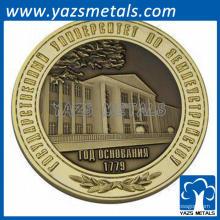 2014 Produção de produção ouro metal lembrança moeda