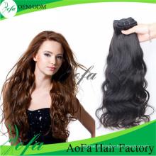 Trama indiana do cabelo humano de Remy do cabelo do Virgin da categoria do alto nível 7A