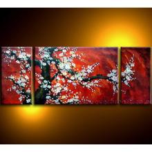 Pintura a óleo moderna da flor da flor de cerejeira da arte da lona na lona (FL3-032)