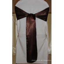 100% Polyester Satin Schärpe für Stuhl Abdeckungen