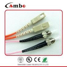 Simplex / dúplex SM / MM Cordón de conexión de fibra FC-SC en la red de comunicación de datos