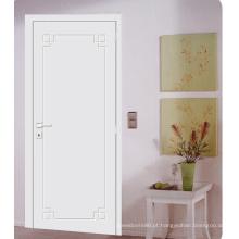 Portas interiores pintadas do branco de portas do resplendor econômico econômico do projeto moderno