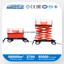 Manual / Hydraulic Vertical Cargo Portable Lift Tabela / Mercadoria