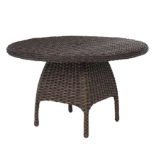 Hotel jardin de Rotin osier mobilier d'extérieur Table à manger ensemble
