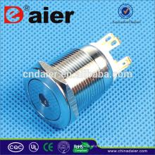 Daier LAS1GQ-19F-11D Interrupteur à bouton-poussoir lumineux