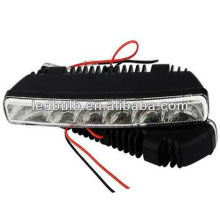 Tampa traseira plástica 6pcs 5050 led drl