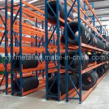 Rack de pneu de aço ajustável Rack de armazenamento vertical para pneus