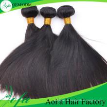 7A Grad unverarbeitete reine brasilianische natürliche schwarze gerade spinnendes Haar
