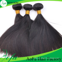 7A Grade Unprocessed Virgin Brazilian Natural Black Straight Weaving Hair