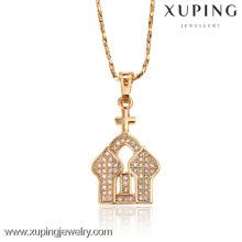 31811 18k en alliage bijoux pendentif mode avec la conception de l'église