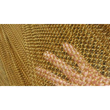 Brass Chainlink Mesh Curtain