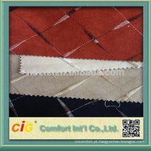 Bordado de tecido de sofá de camurça