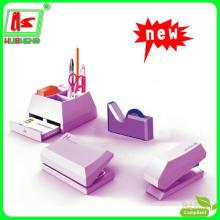Artigos de papelaria para escolas, grampeador, caixa de caneta, furo
