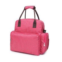 Große rote Mama-Taschen-Tasche Windel-Rucksack