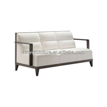 hand soild wooden white fabric sofa XY3377
