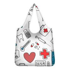 Nurse Medical Print Low Price Bulk Reusable Folded Shopping Bag Logo