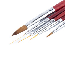 Liner Art Brush Nail Line Brushes Telescopic Pull Nylon Brush Professional Nail Beauty Pure Kolinsky Sable
