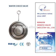 Межфланцевый обратный клапан, обратный клапан из нержавеющей стали вафли типа один диск