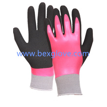 13 Gauge Nylon Liner, Latex Coating, Outer Layer Sandy Finish Glove