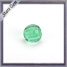 Perles de cristal de couleur émeraude de grande taille de 10mm