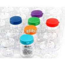 Parafusos de plástico Parafusos de tubo Parafusos de garrafa Stroage