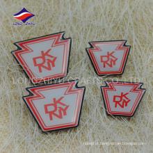 Emblema de epóxi impresso com níquel e malha exclusivo personalizado