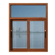 Buen diseño de aluminio doble vidrio acristalamiento persiana Windows