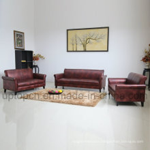 Commercial Furniture Sofa Set in Wine Color for Living Room (SP-KS333)