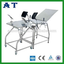 Hot sale hospital totally S.S. obstetric delivery table
