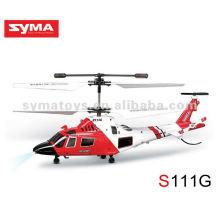 Helicóptero de simulação infravermelho SYMA S111G, mini helicóptero