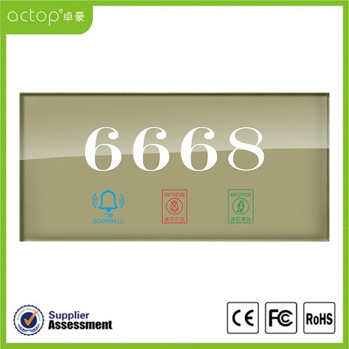 Hotel Door Plates with LED