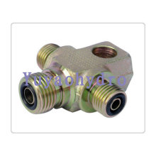 Forged Cross Union Tee Tube Connector Seal Fittings Orfs