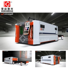 Fiber Optic Laser Cutting Machine for Metal Sheet with Two Table