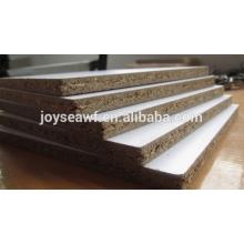 Papel de melamina 25x1220x2440MM cara / parte trasera aglomerado / tablero de partículas de Joy Sea