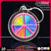 Porte-clés acrylique en gros cristal clair cube acrylique porte-clés pour la promotion