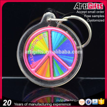 Acrylic keychain wholesale crystal clear cube acrylic keychain for promotion