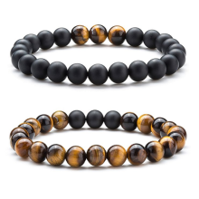 Tiger Eye Stone Beads Pulsera elástica