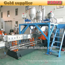 Twin parallel granulating line for making PP granules calcium or Talc filled