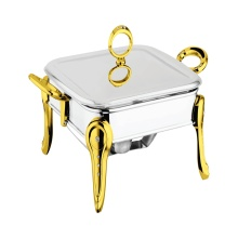 Square Chafing Dish with Steel Lid