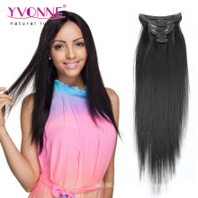 100% Virgin Human Hair Extensions Clip in Hair Extension