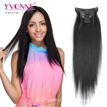 Grampo 100% das extensões do cabelo humano do Virgin na extensão do cabelo