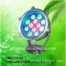 IP68 12W RGB multi color led light underwater