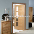 Luxury Modern House Interior Doors with narrow glass