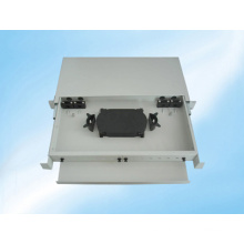 Marco de distribución de fibra óptica deslizable y montaje en bastidor de 12 fibras
