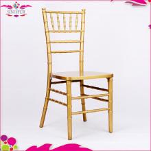 Chaise de mariage en bois de qualité garantie chiavari pour l'hôtel